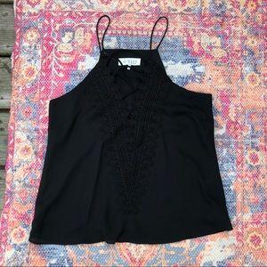 NWOT WAYF black lace tank top